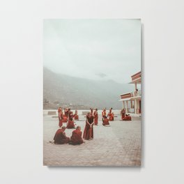 Tibetan Monks Metal Print