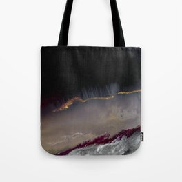 The Extasy Of Gold - Abstract landscape resin art Tote Bag
