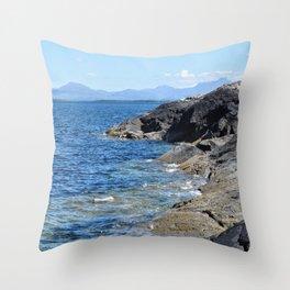 Hebrides Cliffs Throw Pillow