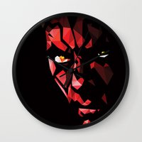 darth Wall Clocks featuring Darth Maul by Roland Banrevi