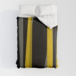 yellow gray and black Comforters