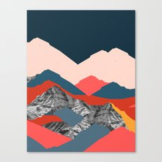 Graphic Mountains X Canvas Print