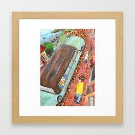 Seaside Drive Framed Art Print