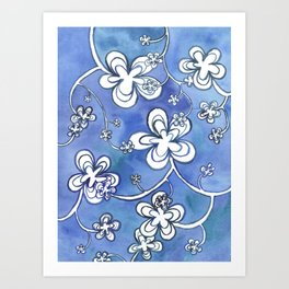 Blue follie Art Print