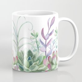 Succulents in The Garden Coffee Mug
