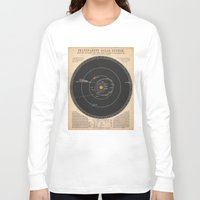 solar system Long Sleeve T-shirts featuring Solar System by Le petit Archiviste