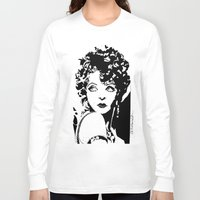 bow Long Sleeve T-shirts featuring Clara Bow by Claire Nelson-Esch