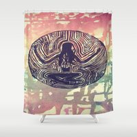 psych Shower Curtains featuring Psych Trap by ArtAngel