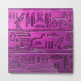 Hieroglyphs 2014-1030 Metal Print