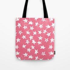 Linocut Stars- Blush & White Tote Bag