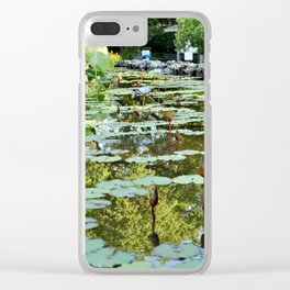 Lily Pad Circles Clear iPhone Case
