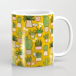 Cactus Cat Yellow Coffee Mug