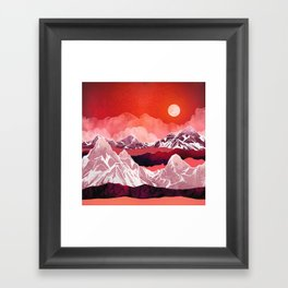 Scarlet Glow Framed Art Print
