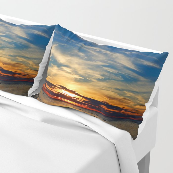 Peace and Relaxation at the Sea shore Pillow Sham