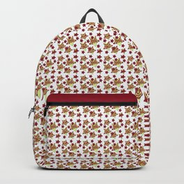 Toy Stars on White Backpack