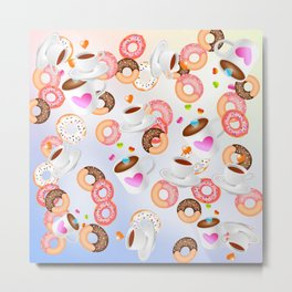 Coffee and Doughnuts En L'air Metal Print