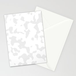 Large Spots - White and Pale Gray Stationery Cards