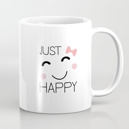 Just Happy Smiley Coffee Mug