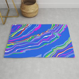 Colorful Marbling Rug