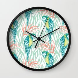 Tropical Pastels Wall Clock