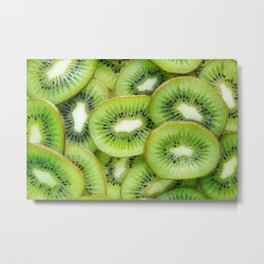 Green Kiwi Metal Print