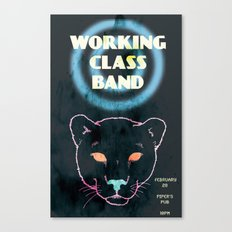 Working Class Panther, gig poster Canvas Print