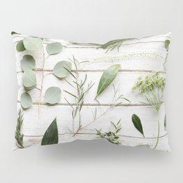 Green Botanical Flowers Pillow Sham