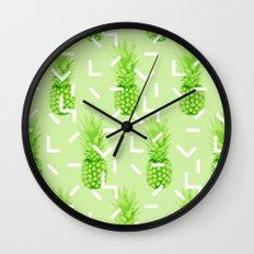 Summer Pineapples Wall Clock