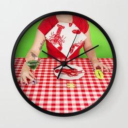 Lobster menu Wall Clock