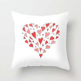 Loose Hearts Throw Pillow