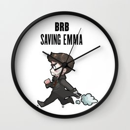 BRB Saving Emma Wall Clock