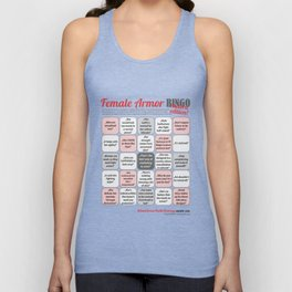Female Armor Rhetoric Bingo Unisex Tank Top