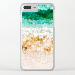 On the beach abstract painting Clear iPhone Case