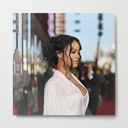 Rihanna - Celebrity - Oil Paint Art Metal Print