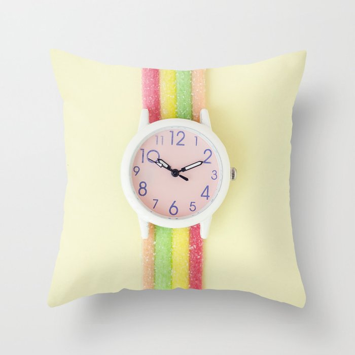 Photo Image Wristwatch Image Sour Stick Colorful Image Photography Print Sweet Art Fine Art Throw Pillow By Luvphotography Society6