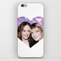 sarah paulson iPhone & iPod Skins featuring Sarah Paulson and Lily Rabe AHS Freakshow by IrasHorrorStory