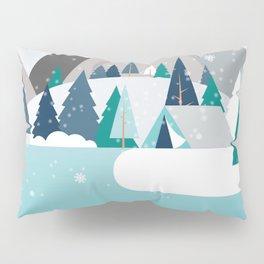 Camping - first snow fall Pillow Sham