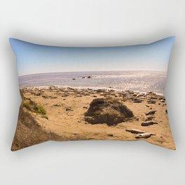 Elephant Seals on the California Coast Rectangular Pillow