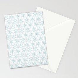 Blue Snowflakes Stationery Cards