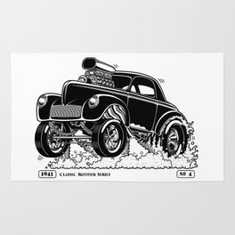 1941 WILLYS Classic Rodder - Black Rug