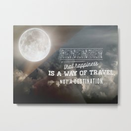 Happiness Quote Metal Print