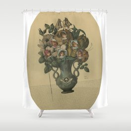 Crooked Bouquet Shower Curtain