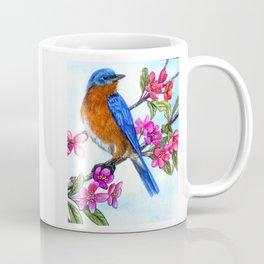 Bluebird and Apple Blossoms Coffee Mug