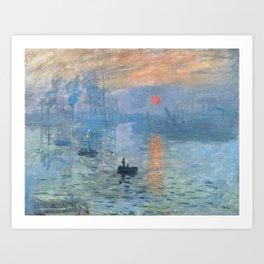 Monet's Impression, Sunrise (High Resolution) Art Print