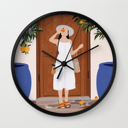 Colours of Marrakech Wall Clock