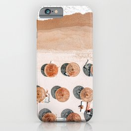 Ocean Print, Beach Print, Aerial Beach Print, Beach Photography, People Umbrellas Art Print iPhone Case