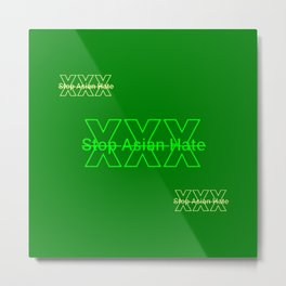 HTGBY @Insta Society6 Stop Asian Hate Campaign  - #AsianLivesMatter #ALM 78.2 Metal Print