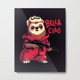 Little Rebel // Bella Ciao, Ferret, Money Heist Metal Print