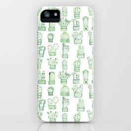 Cacti Collection iPhone Case