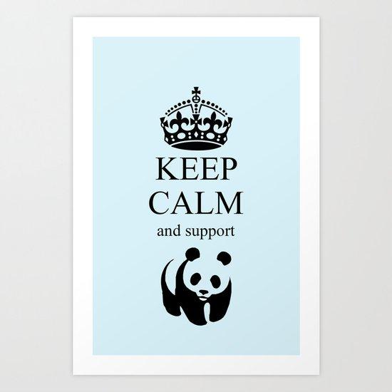 KEEP CALM WWF Art Print